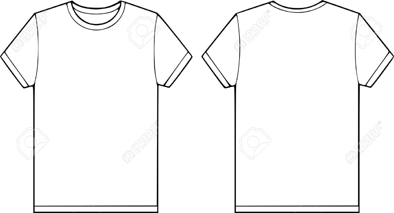 11083371 back and front side of a blank t shirt vector for Long sleeve t shirt template illustrator